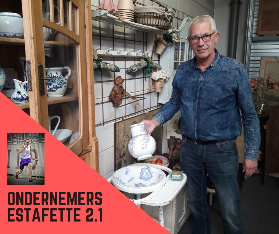 Ondernemers Estafette: Willem Mulder van Hanze Brocante in Kampen (Foto: Attest Communicatie)